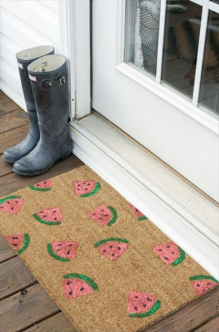 DIY Welcome Mats That Will Add Character To Your Front Porch