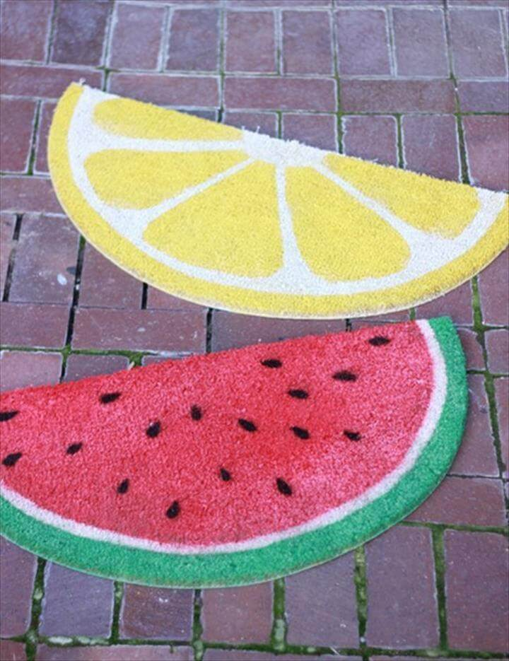Deck Out Your Front Door with a Fun Doormat!