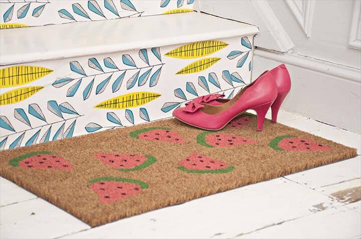 DIY Watermelon Doormat