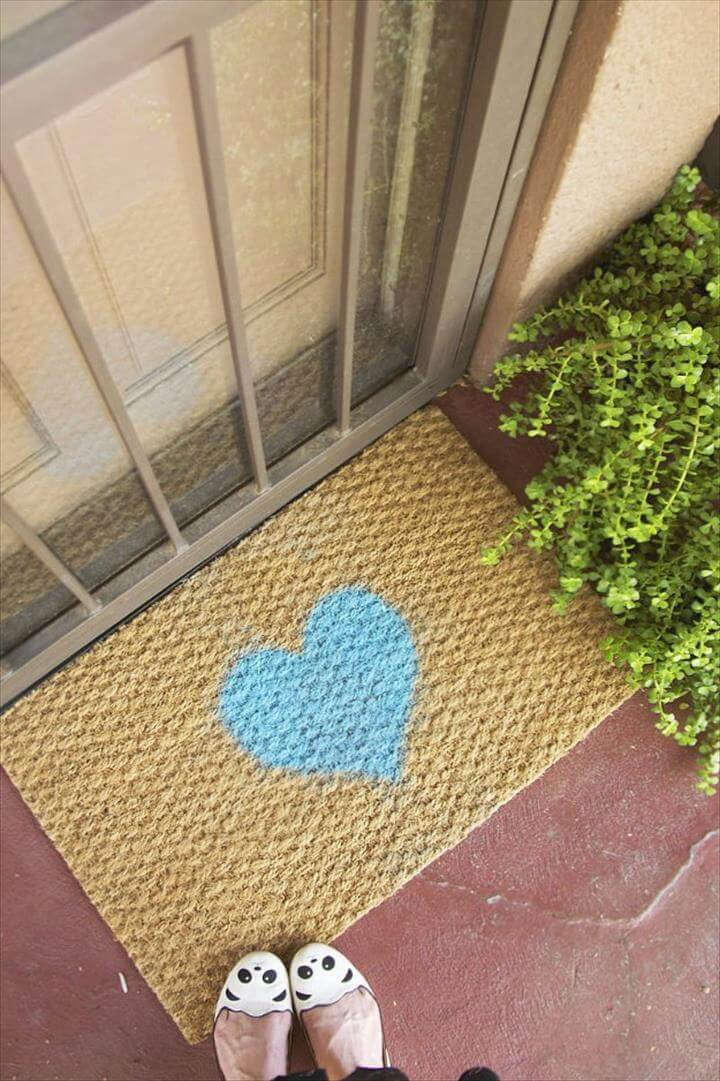 heart door mat