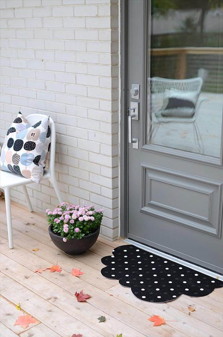 DIY Polka Dot Cloud Mat Two Ways