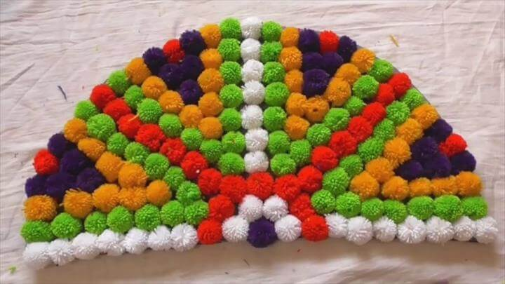 Doormat, Pom Pom Rug, Table mat, Carpet