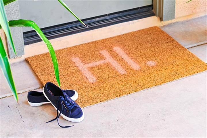 DIY Typography Doormat