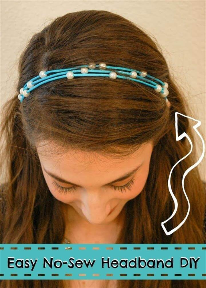 quick and easy No-Sew Headband
