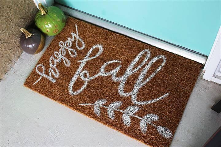 painted fall door mat