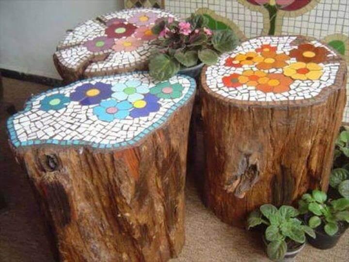 Wonderful Diy Log Ideas Garden