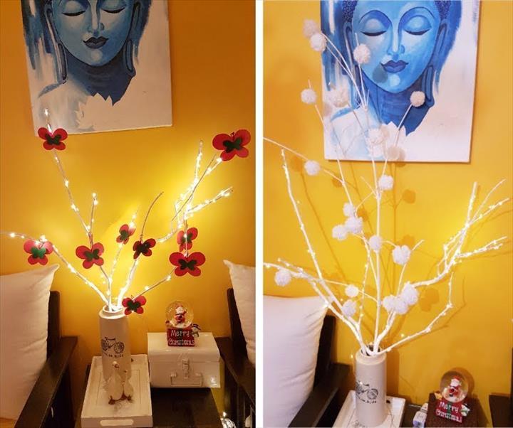 Lighted Tree Branch