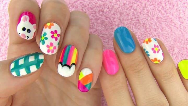 DIY Nail Art Without any Tools! 5 Nail Art Designs -