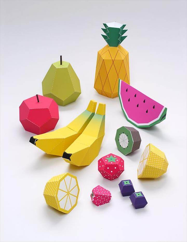 Diy Crafts Ideas. Play Fruit Templates