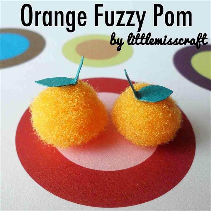 Paper fruit crafts crafts tutorial diy dpineapple u citrus decorations rhyoutubecom orange fuzzy pom craft .