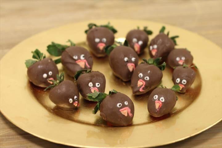 Chocolate Covered Strawberry Turkey Dessert Treats