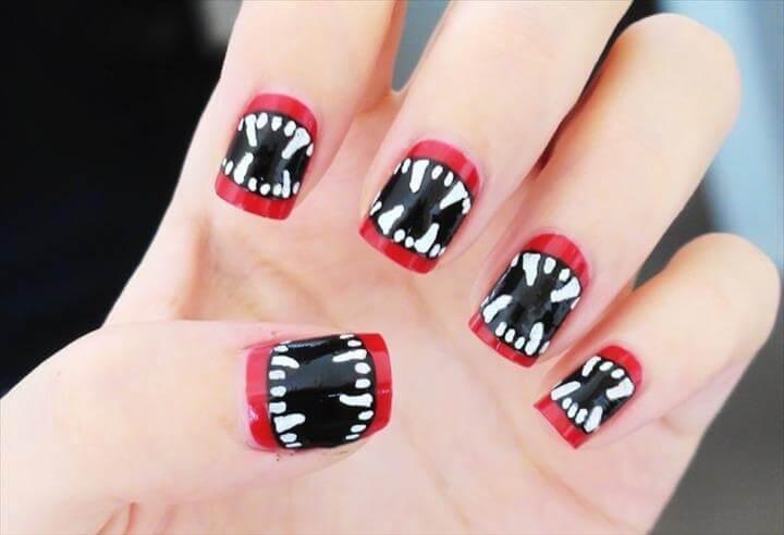 Vampires nail art