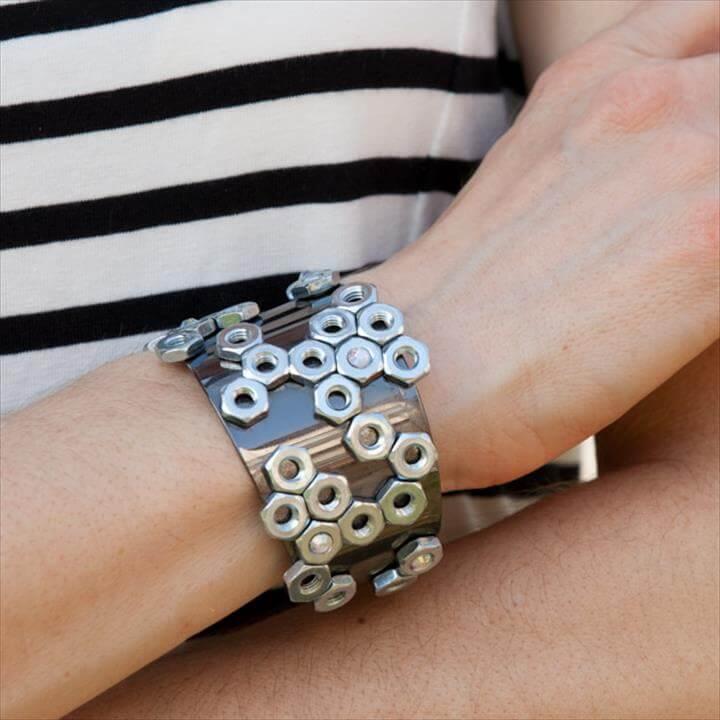Hex Nut Cuff DIY. Jewelry