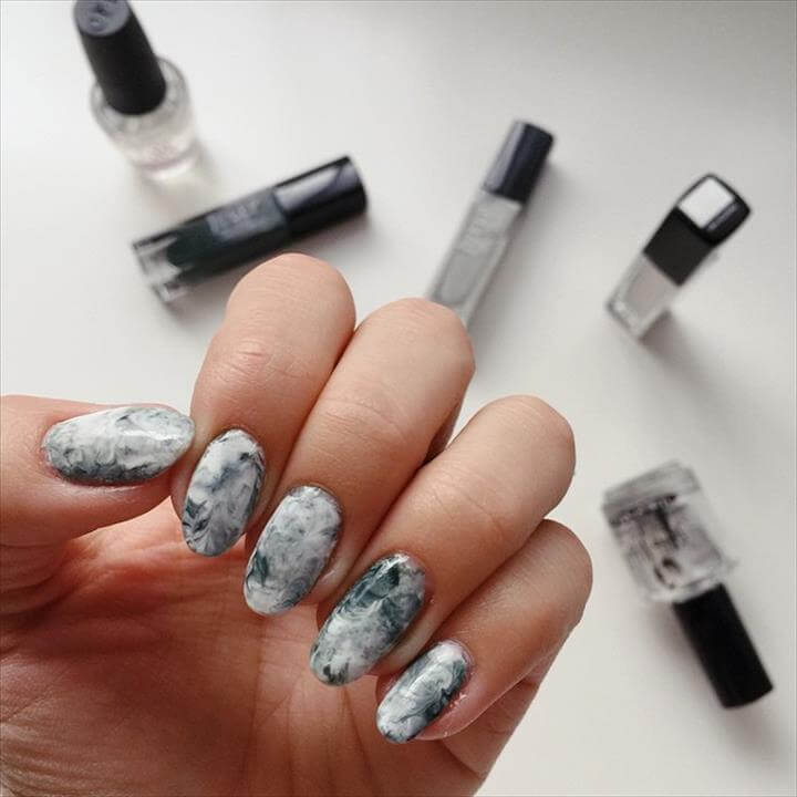 Marble Print Nail Art Tutorial