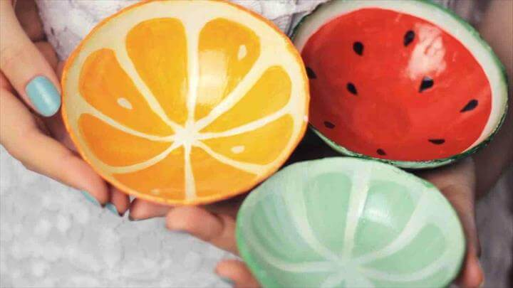 Orange lime diy orange fruit crafts clay fruit bowls from scratch watermelon orange lime