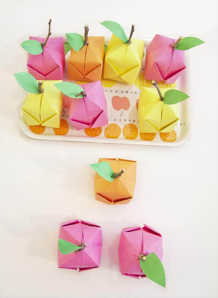 Origami Fruit On Tray