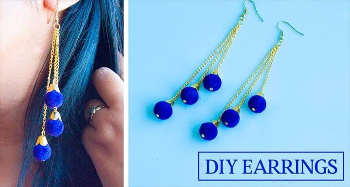 diy earrings, earring tutorial, diy fashion