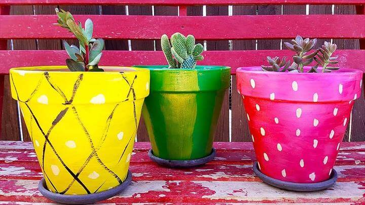 Fruit Painted DIY Terra Cotta Pots