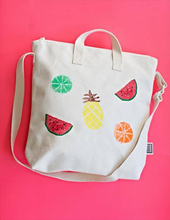 Potato Stamped Fruit Bag