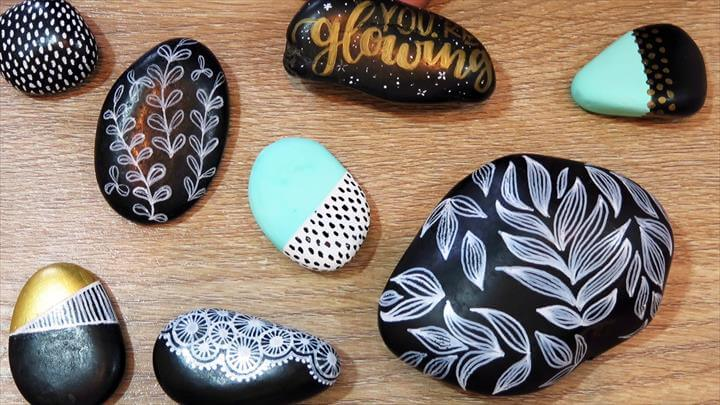 DIY ROCK PAINTING for the First Time |