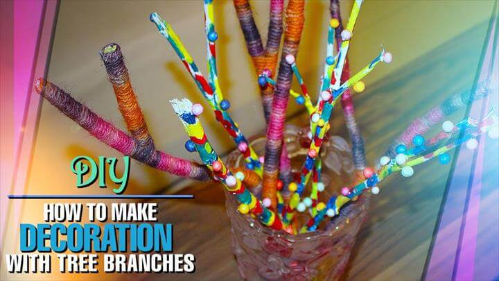 DIY Decoration From Tree Branches: Home Decor