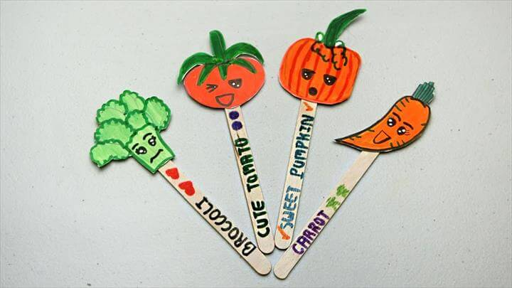 DIY Vegetable bookmark for note holde