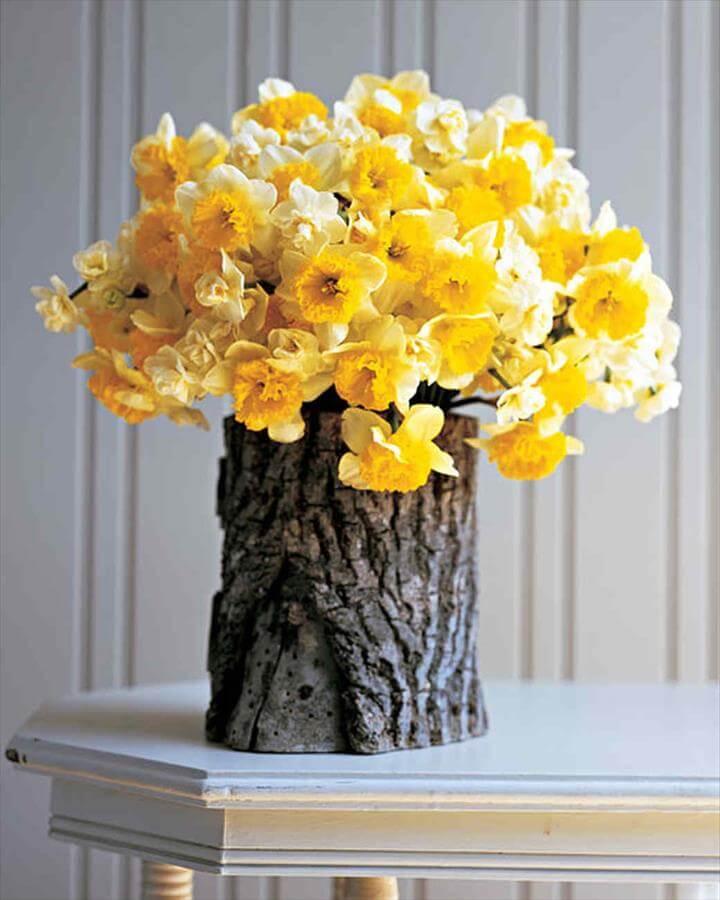 Stump Vase, DIY Wood Home Decorations