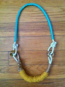 rope necklace, diy fashion