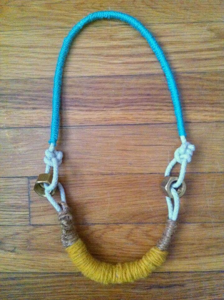 rope necklace, diy fashion
