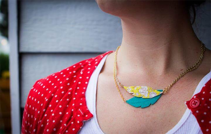 feather crafts, feather jewelry, feather necklace