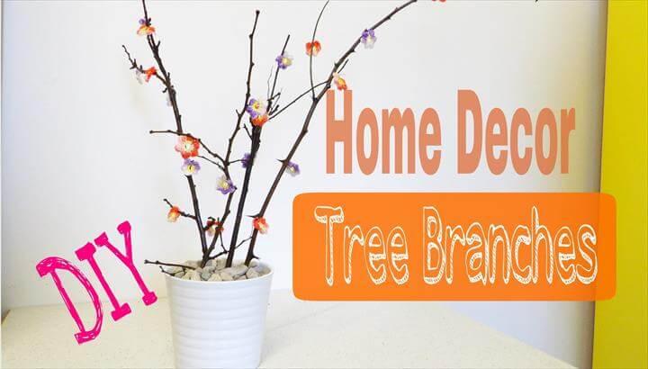 DIY Home Decor Tree Branches