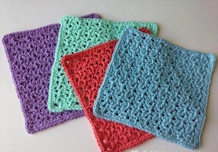 5 Little Monsters Bloom Stitch Dish Cloth