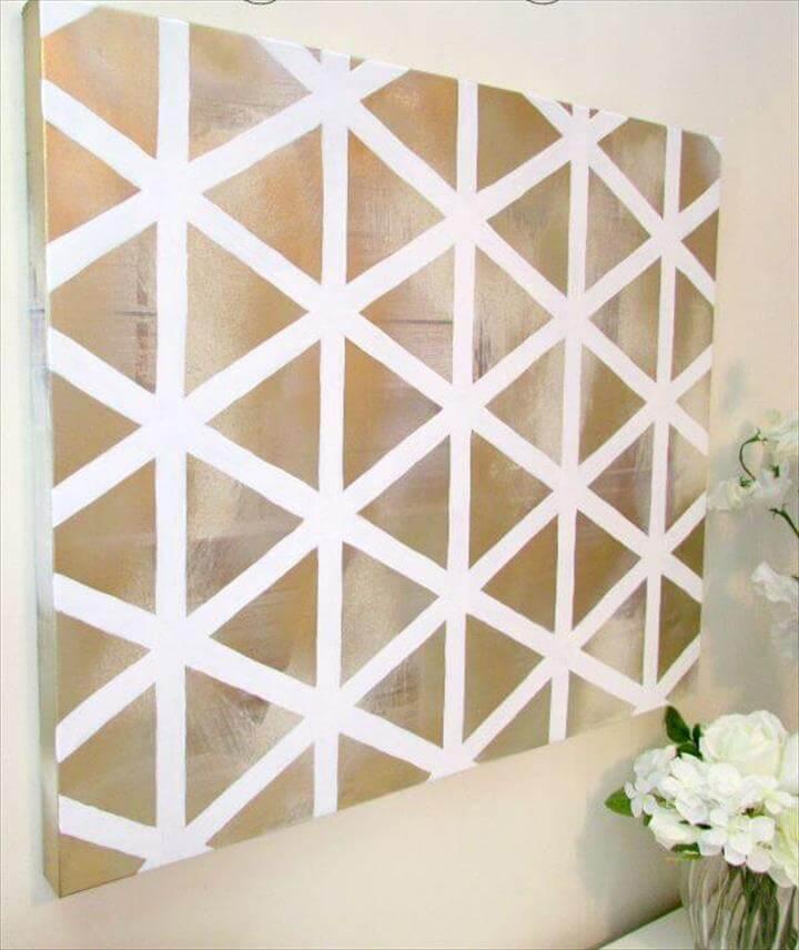 Easy DIY Geometric Wall Art