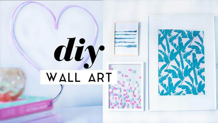 DIY Wall Art Room Decor Pieces