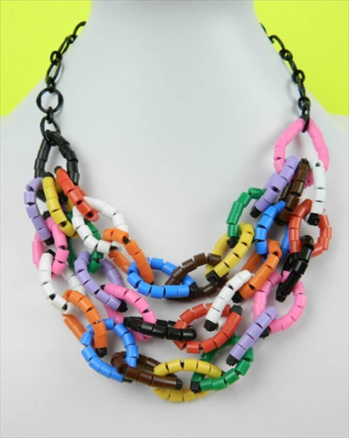 DIY Perler Beads and Zip Ties Necklace