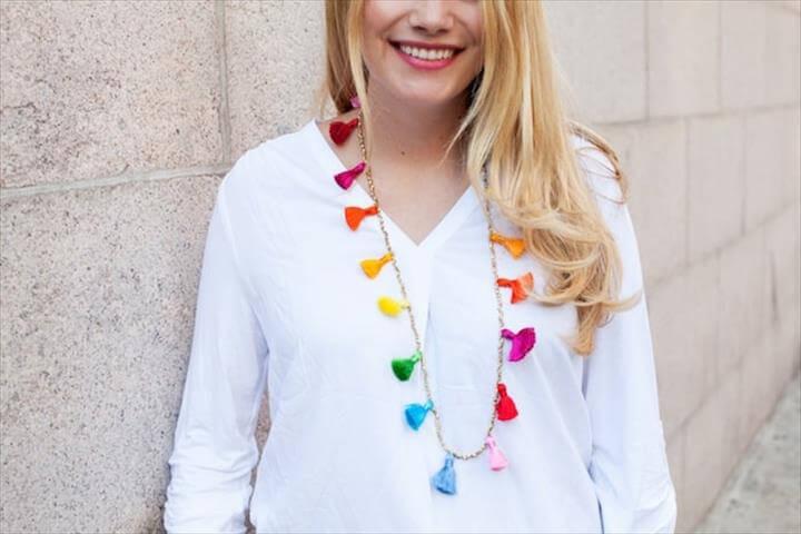 DIY Beaded Tassel Necklace