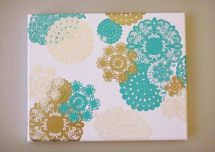 Diy Wall Art - Doily Rub-on Canvas