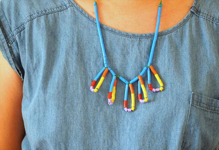 Perler Bead Statement Necklace