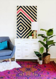 Home Decor Projects: DIY Diamond Ripple Wall Art