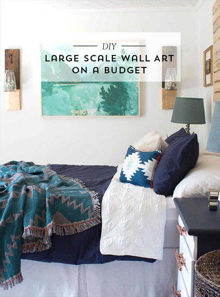 DIY Large Scale Wall Art using