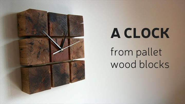 Clock From Pallet Wood Blocks