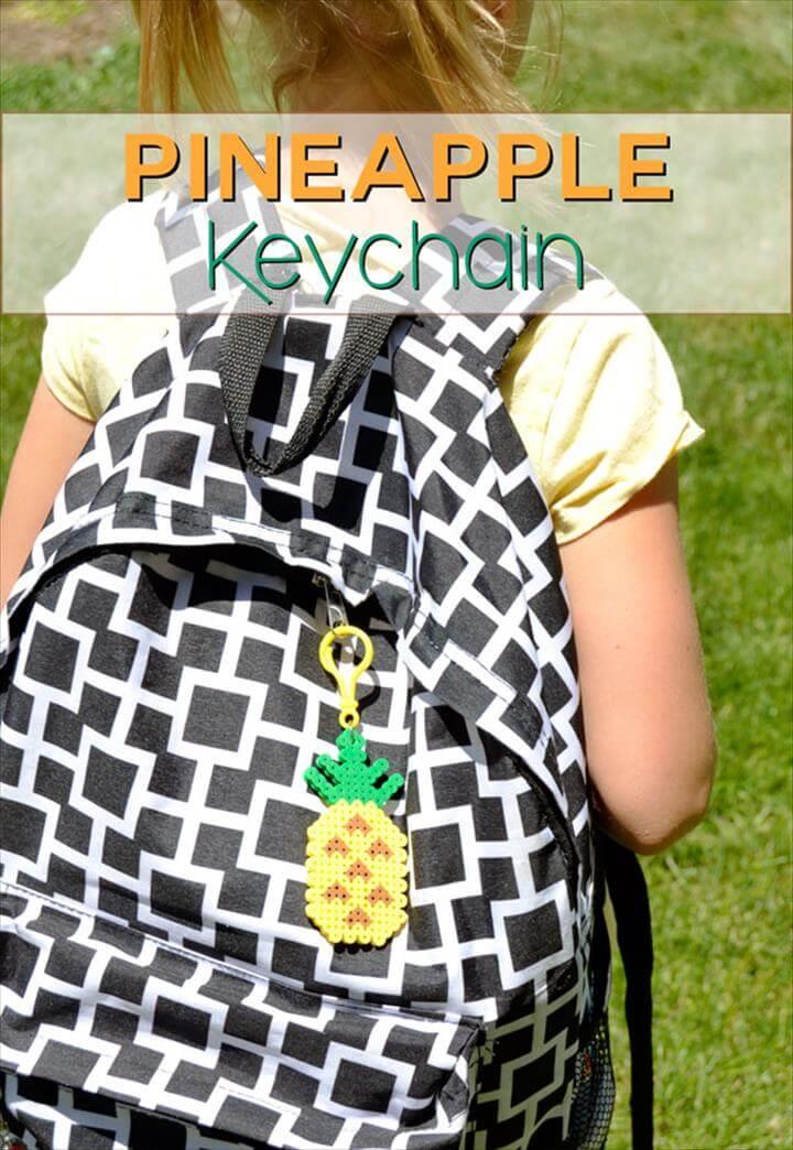 DIY Pineapple Keychain