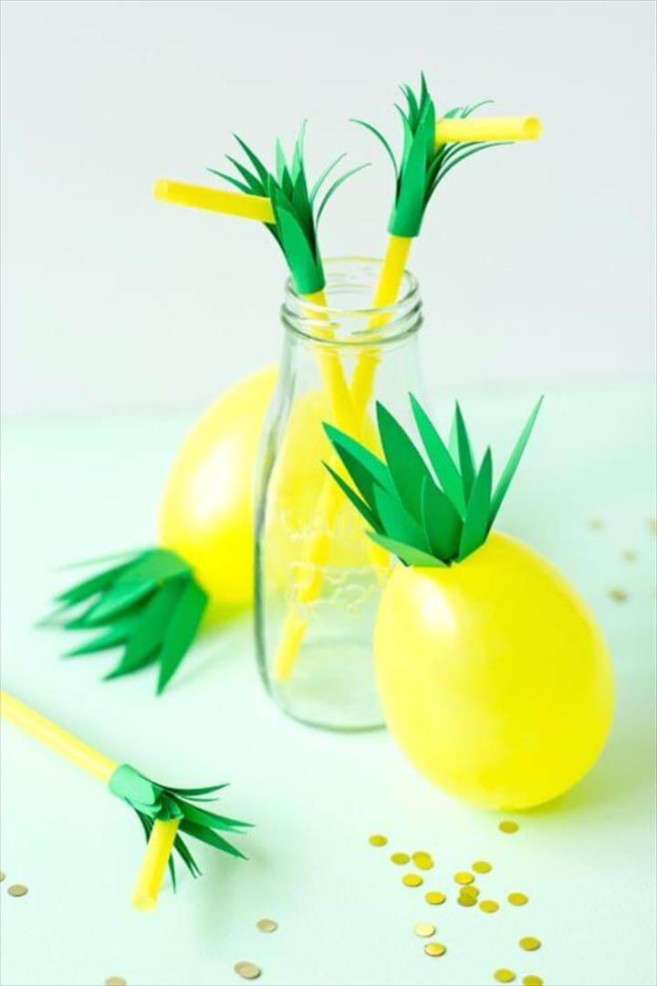 Balloon Crafts - DIY Pineapple Balloons - Fun Balloon Craft Ideas, Wall Art Projects and
