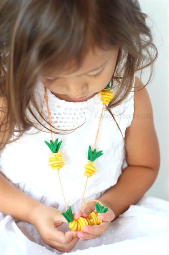 DIY Pineapple Necklace - Raising Whasians
