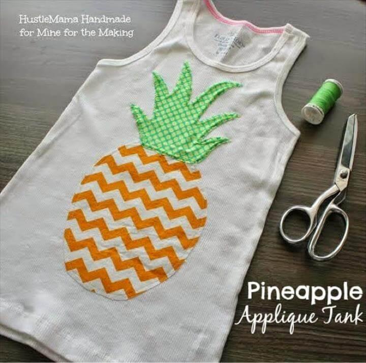 Pineapple Appliqué Tank Tutorial