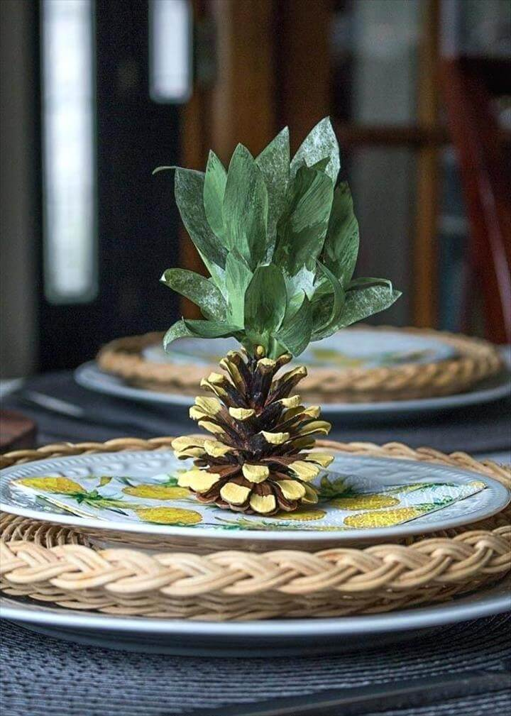 Pineapple Crafts Decorations For A Themed Party Diy Pinecone Easy