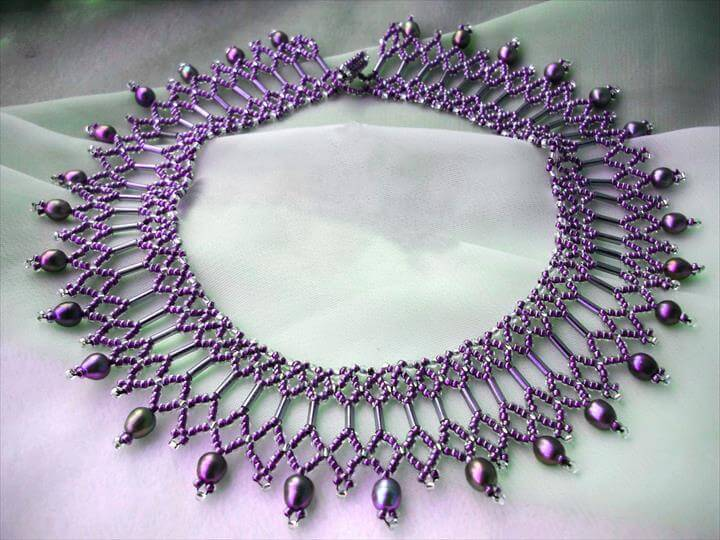 DIY Seed Bead Necklace Pattern