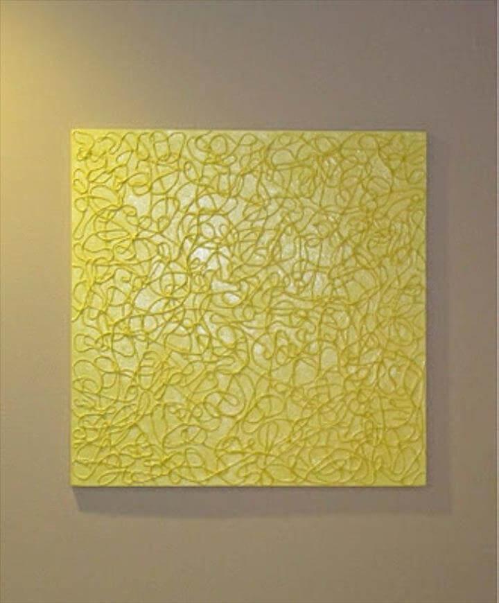 Diy Wall Art - String Textured Wall Art