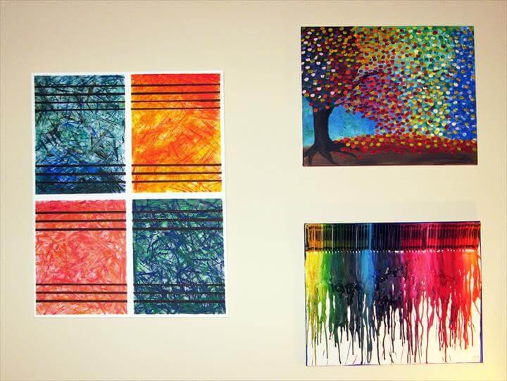 diy wall art abstract