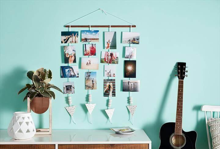 photos hang on the wall